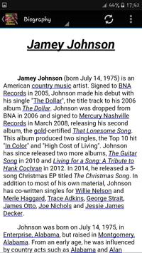 Jamey Johnson Music apk screenshot