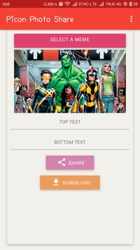 Picon Photo Share:แก้ไขรูปภาพฟรี Hero-@marvel Free apk screenshot