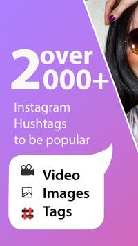 Hashtags -Likes & Views, Boost Instagram Followers poster