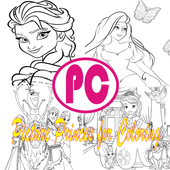 Picture Princes For Coloring icon