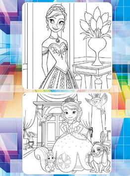 Picture Princes For Coloring screenshot 5