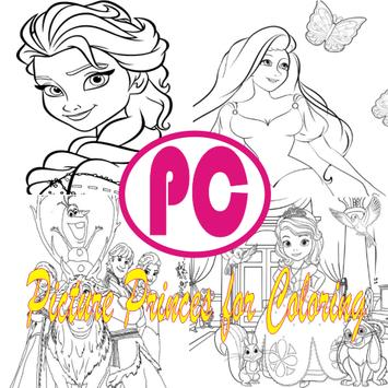 Picture Princes For Coloring poster