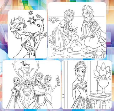 Picture Princes For Coloring screenshot 1