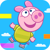 Jump Up - with Piggy Free icon