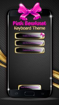 Pink Bowknot Keyboard Theme poster