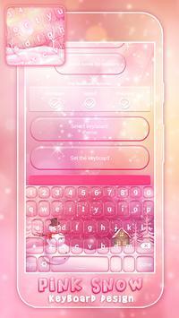 Pink Snow Keyboard Design screenshot 1