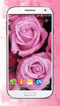 Pink Flowers Live Wallpaper HD apk screenshot