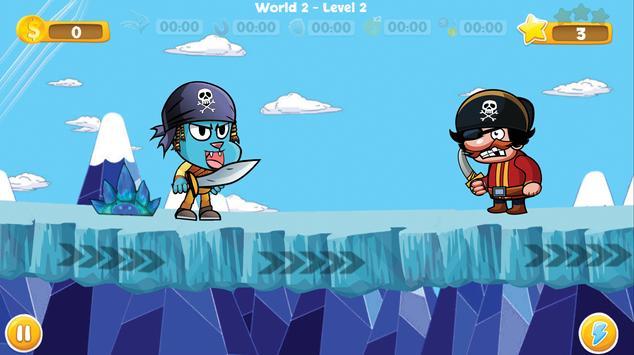 Pirate Gumball Run screenshot 1
