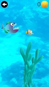 piranha eating game poster