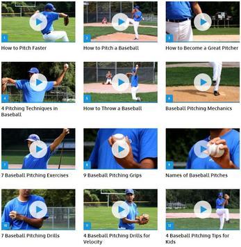 Baseball Pitches poster