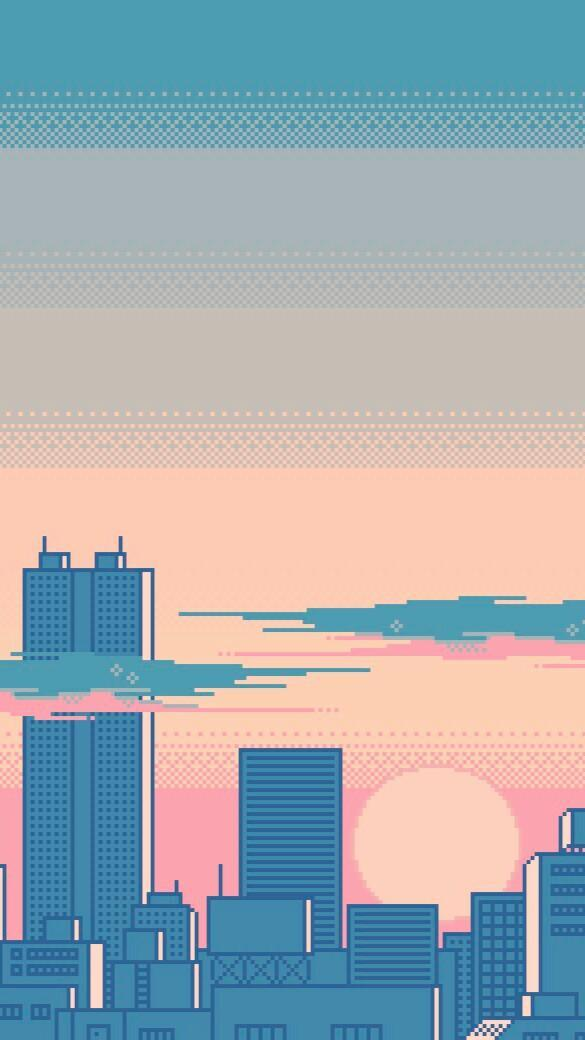 Pixel Art City Wallpaper For Android Apk Download