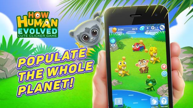 How human evolved: cute clicker game screenshot 1