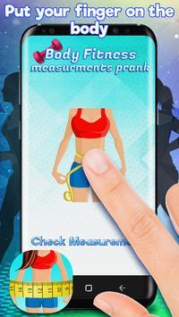 Body Fitness Measurements Prank poster