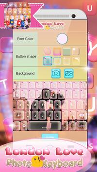 London Love Photo Keyboard apk screenshot