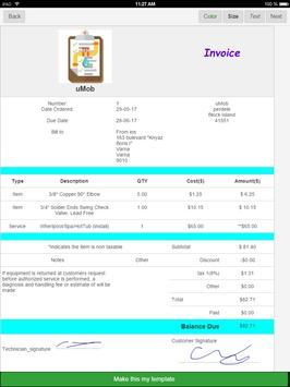Plumbing Invoices apk screenshot