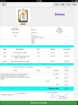 Plumbing Invoices apk screenshot