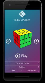 Puzzle game Rubik's Cube poster