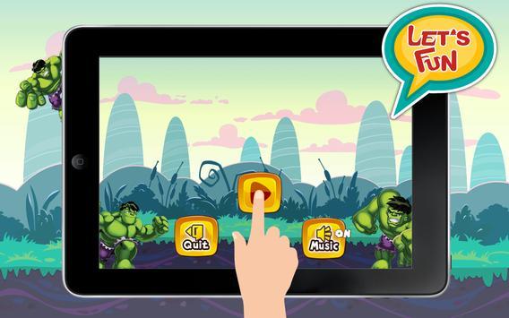 Super hulK World Sandy Hero Game frEE poster