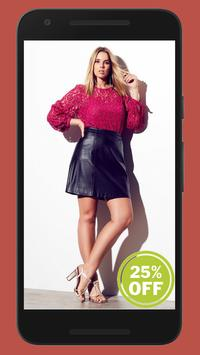 Plus Size Clothing Shopping App poster