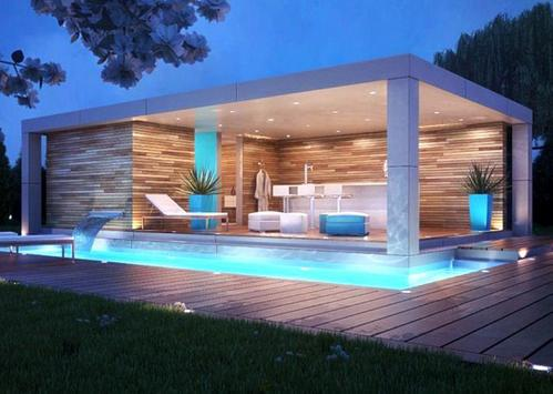 Pool House Design poster