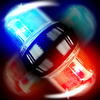 police lights spinner game icon
