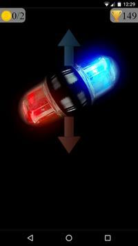police lights spinner game poster
