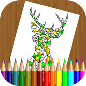 Polygon Coloring Book for Kids icon