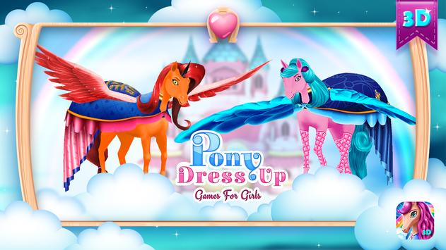Pony Dress Up Games For Girls poster