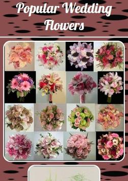 Popular Wedding Flowers poster