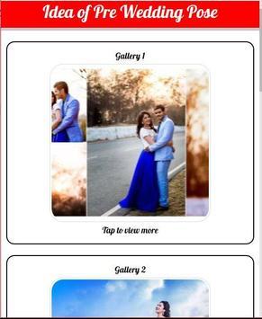 The idea of pre wedding pose poster