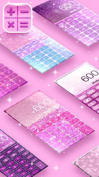 Pretty Pink Glitter Calculator poster