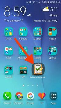 Private Notepad apk screenshot