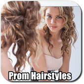 Prom hairstyles icon