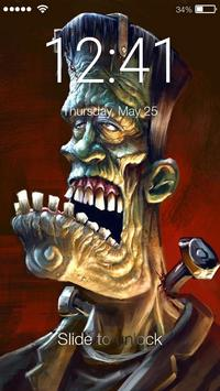 Zombie Dead Brainless Art  HD Security Screen Lock poster