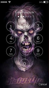 Zombie Dead Brainless Art  HD Security Screen Lock screenshot 1