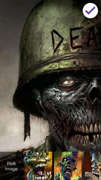Zombie Dead Brainless Art  HD Security Screen Lock screenshot 2