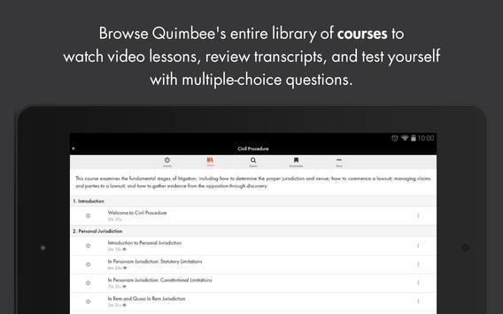 Quimbee screenshot 8