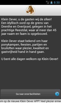 Klein Oever poster