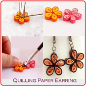 Quilling Paper Earring icon
