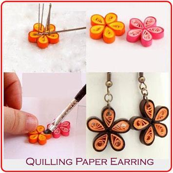 Quilling Paper Earring poster