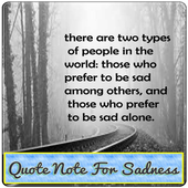 Qoute Note For Sadness icon