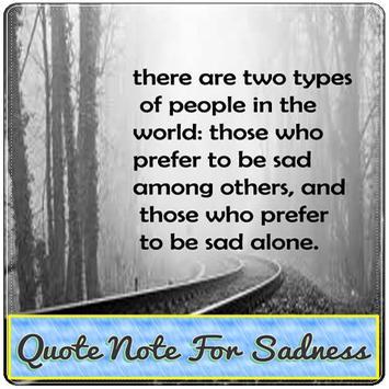 Qoute Note For Sadness apk screenshot
