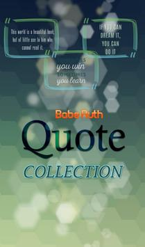 Babe Ruth Quotes Collection poster