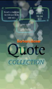 Barbara Boxer Quotes poster