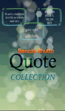 Benazir Bhutto Quotes poster