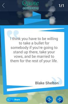 Blake Shelton Quotes apk screenshot
