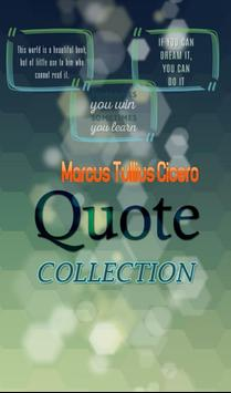 Marcus Tullius Cicero  Quotes poster