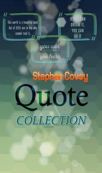 Stephen Covey  Quotes poster
