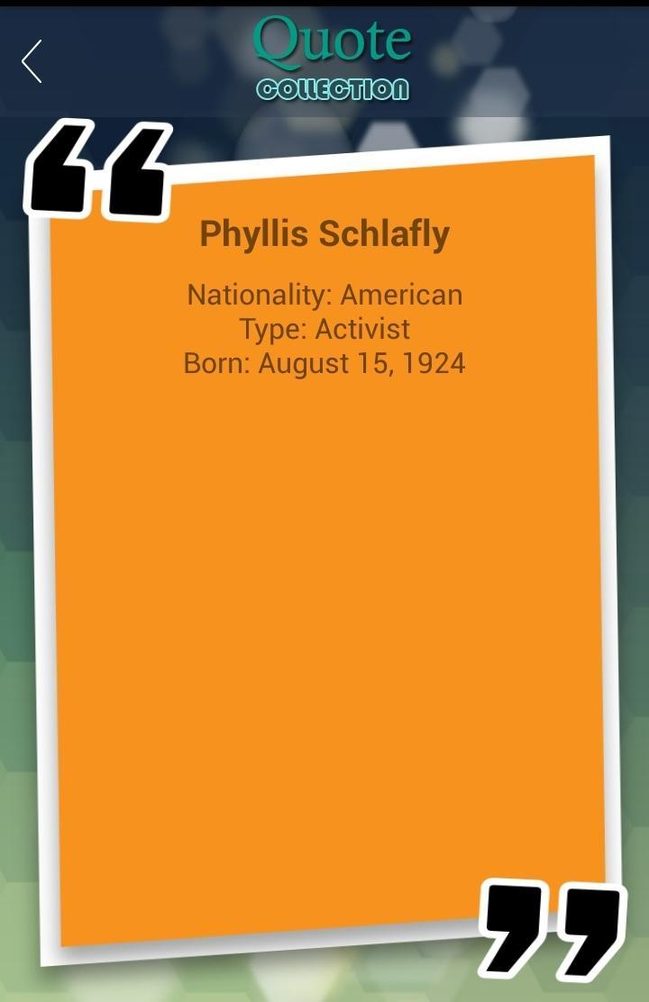 Phyllis Schlafly Quotes poster