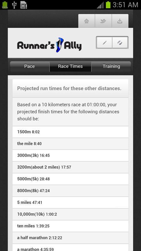 RUNNING PACE CALCULATOR Screenshot 4